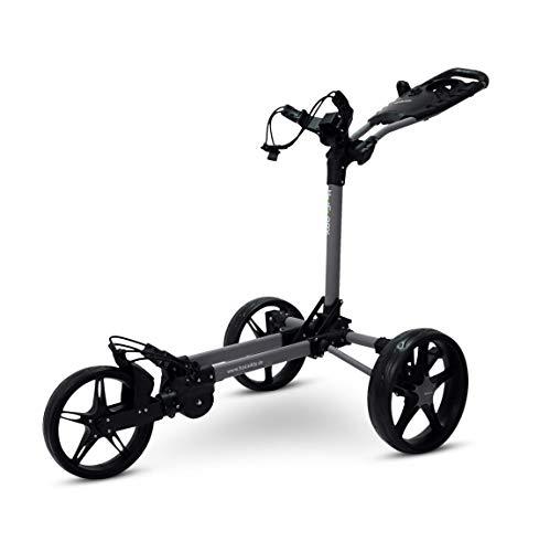 Tour Made Haicaddy Travel Flat HC1 3-Rad Push-Trolley Golf-Trolley Golf-Caddy (matt-grau-schwarz)