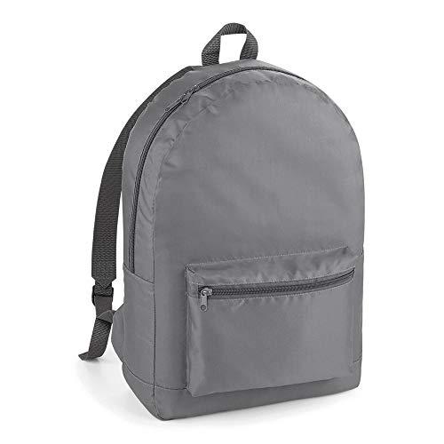 123t BG151 Packaway Backpack - Graphite Grey/Grey Blank Plain