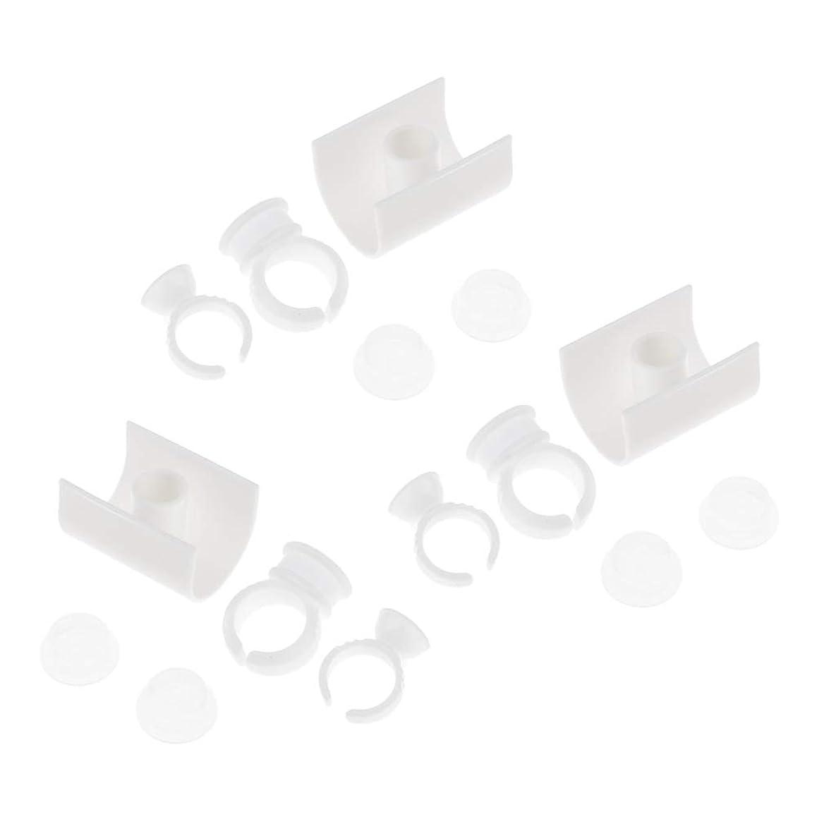 コウモリばか消毒するSM SunniMix まつげホルダーリング 接着剤リング まつげ延長リング U形 ABS樹脂製 まつげ延長