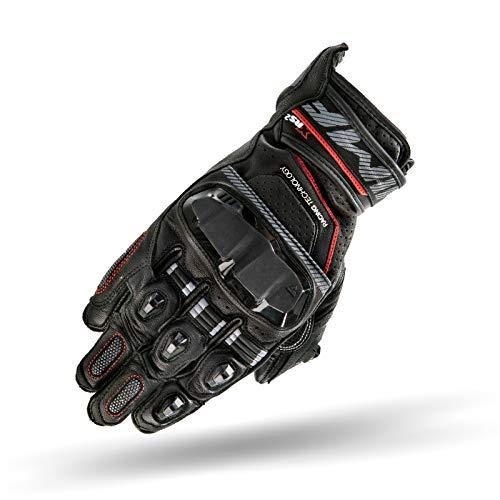 SHIMA XRS 2 Plus 2019 - Guantes cortos de piel para motorista con pantalla táctil y certificado CE, color negro/S