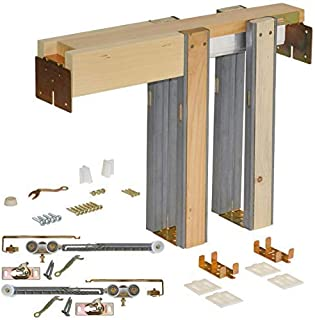 Johnson Hardware 1500 Soft Close Series Commercial Grade Pocket Door Frame for 2x4 Stud Wall (32 inch x 80 inch)