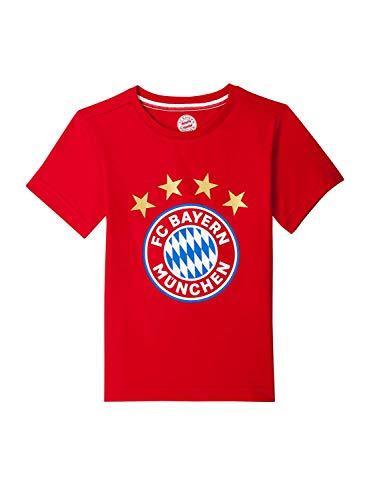 FC Bayern München T-Shirt Logo rot Kleinkinder, 104