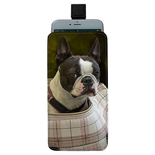 Giftoyo Boston Terrier Dog Bolsa universal para teléfono celular