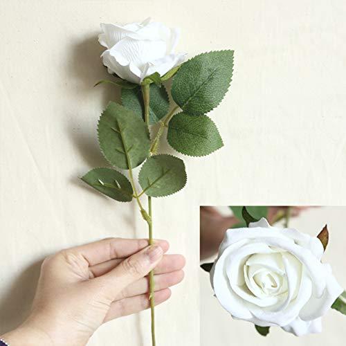 DXM Pearl Flanell Rose, Wiederverwendbare künstliche Blütenblätter, leicht zu pflegerte Rose Simulation Blume für Häuserdekoration, Urlaub, Hochzeitsmauer, Pflanzenwand, künstliche Blume (blau)