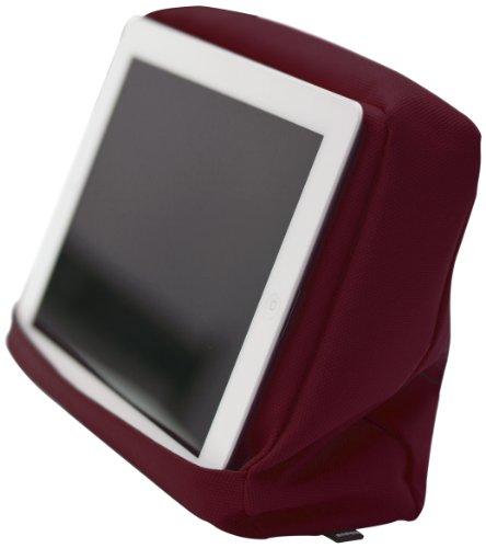 Bosign Tabletpillow Hitech 2 per iPad/Tablet PC, Cuscino da Divano/Letto con Tasca Porta Tablet, Vinaccia/Nero
