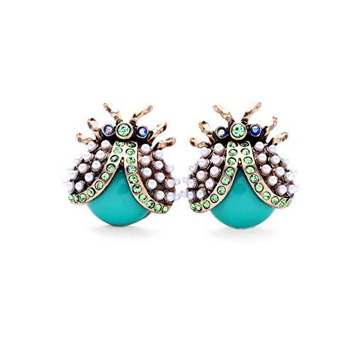 Pendientes Eardrop Dangler Joyas Para Mujeres Diamond-Studded Lindo Insecto Mariquita Pendientes