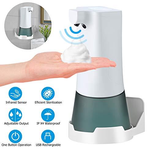 Yisun Seifenspender Automatisch, Berührungslos Schaumseifenspender Wandmontage mit 2 Einstellbare Schaummenge, 350ML, für Badezimmer, Küche, Hotel, Restaurant (Weiß)