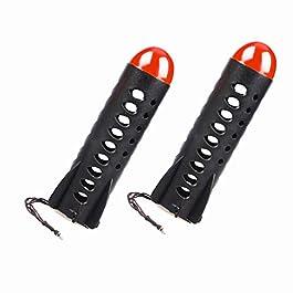 Milepet 2x Grands Spods de Pêche à la carpe en forme de fusée pour appât support mangeoire à charge automatique, 18,7cm