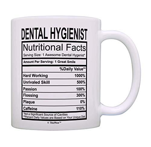 N\A egalos dentales Higienistas dentales Datos nutricionales Impresionante Higienista Dental Taza de café Taza de té Blanco