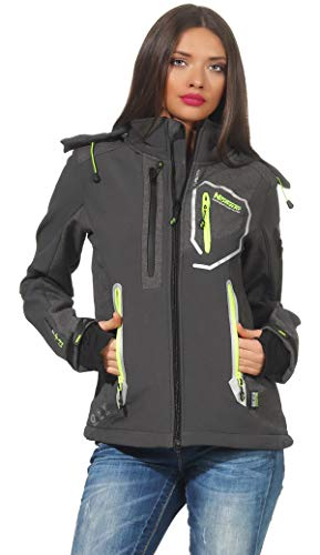 Geographical Norway Jacke Tahiti Lady Softshell Damen Regenjacke Outdoor (Grau, XXL)