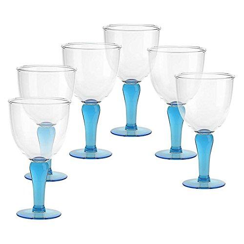 6 X Eisschale Dessertschale Eisbecher Glas Campania Aquamarin 22,5 cm Gelato Vero