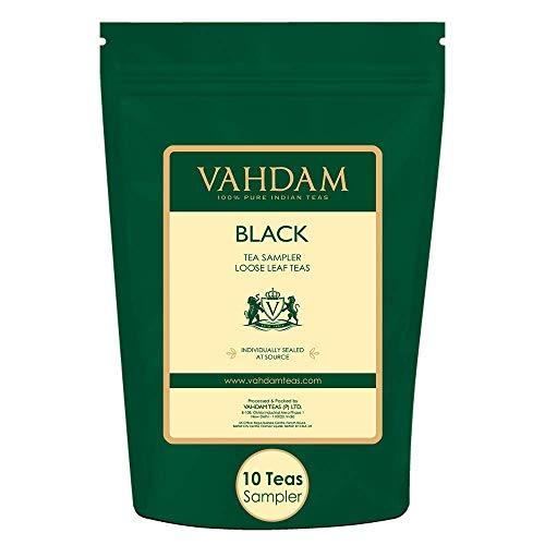 VAHDAM, Muestra de Té Negro - 10 TEAS, 50 porciones |