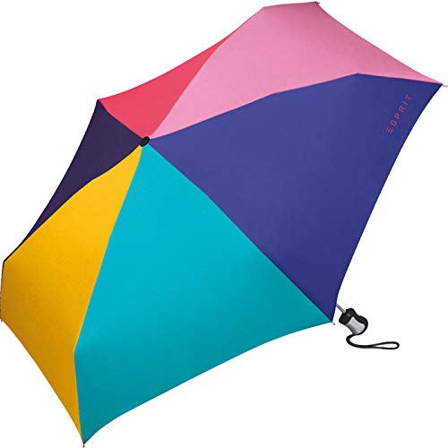 ESPRIT Easymatic 4-Section Automatik Regenschirm Umbrella Schirm Taschenschirm, Farbe:Multicolor