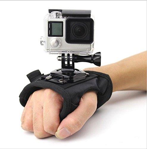 Shoot® Handschlaufe Hand-Arm-Halterung für Gopro Hero 6, 5, 4, 1, 2, 3, 3+ Session 5, 4 und andere Kleine Kameras und Sport-Camcorder (mit 1/4