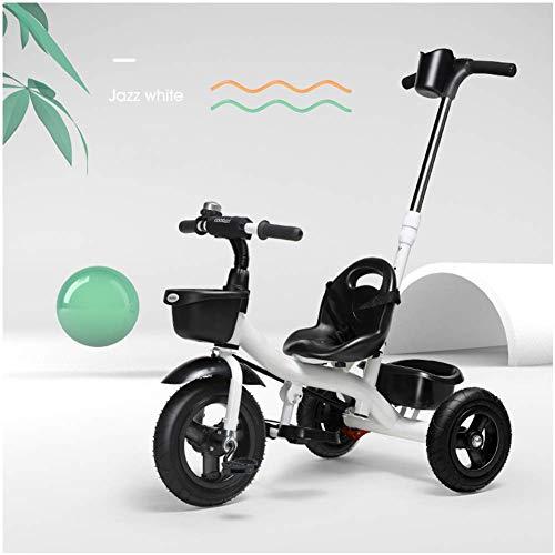 HYLH Kinderdreirad, Kinder Trike Dreirad 2-6 Smart 2-In-1 Kinder Dreirad Kinder Trike FüR Kleinkinder Spielzeug (GrüN), White