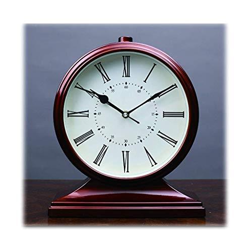 ZCZZ Reloj de Mesa, Reloj de péndulo/Cuarzo/Reloj de Mesa para Sala de Estar/Antiguo Reloj de hogar/Escritorio/Movimiento silencioso, Elegante Reloj de Mesa (Color: Color Natural)
