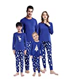 MyFav Matching Family Christmas Pajamas Set Soft Cotton Clothes Sleepwear,L