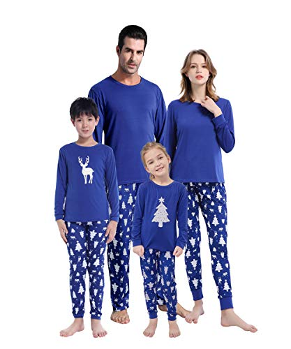 MyFav Matching Family Christmas Pajamas Set Soft Holiday Clothes Sleepwear