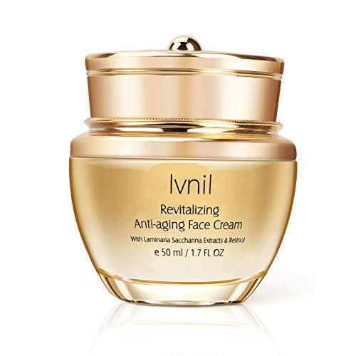 Invil Crema Facial Hidratante Antiarrugas,Rico en vitamina C, retinol y ácido hialurónico, puede efectivamente anti-envejecimiento, anti-arrugas e hidratante,Cremas de Dia/Noche y Mujer/Hombre 30ml