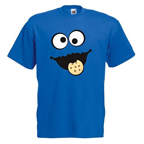 Keks Monster Unisex T-Shirt Gruppen Kostüm Karneval Fasching Verkleidung Party JGA Royal Blue 4XL