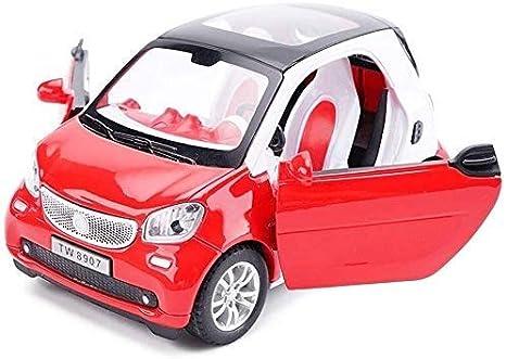 Paelf 1:24 Pull-Back Pull Toy Friction Power Car Play Boy Girl Alloy Juguete Aleación Aleación Coche Sound Y Luz Tire Detrás Simulación Simulación Coche Modelo Coche Regalo Cumpleaños Niños Educación
