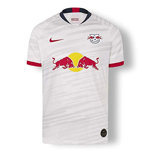 RB Leipzig Home Trikot 19/20, Weiß Herren Large T Shirt, RasenBallsport Leipzig Original Bekleidung & Merchandise