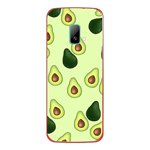 Disagu SF-sdi-4195_1122 Design Folie für Wiko riff Rückseite - Motiv Avocados Muster grün