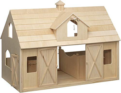 Breyer Traditional Deluxe Wood Horse Barn with Cupola Toy Model  30.5 L x 21 H