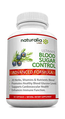 Naturalia Labs - Blood Sugar Support Supplements - Promotes Healthy Blood Glucose Levels - Supports Cardiovascular Health – with Vitamin C, Magnesium, Alpha Lipoic Acid, Zinc, Cinnamon, Licorice Root