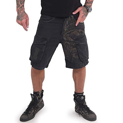 Yakuza Herren Indian Skull Cargo Shorts