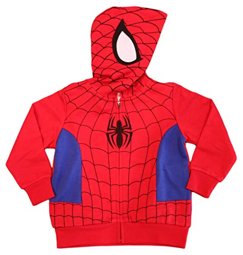 Spiderman Marvel Little Boys Costume Hoodie (4T) Red
