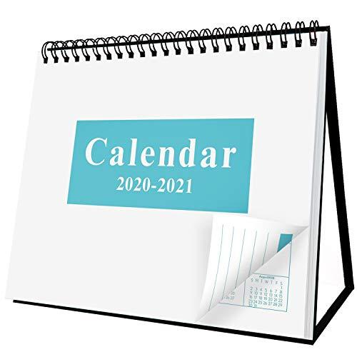 Desk Standing Calendar 2020-2021 Desktop Flip Calendar 8 x 6