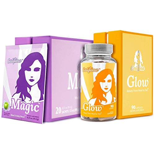 The Vitality Stack - Magic The Pre Workout Powder for Women & Glow - The Hair Skin & Nails Vitamin & Antioxidant Beauty Supplement