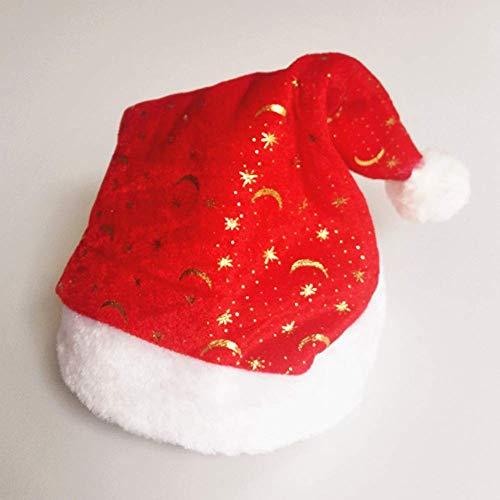 Tiyila Erwachsene Unisex Weihnachten Neuheit Mütze Party Kleidung - Weihnachten Santa Hut - H03