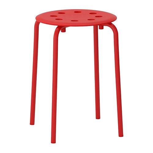 Ikea Marius–Hocker, rot