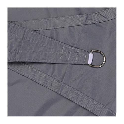Puzzles Toldo Vela de Sombra Rectangular Protección Rayos UV, Resistente Impermeable Transpirable para Patio, Exteriores, Jardín, Antracita (Color : Gray, Size : 2x2m)