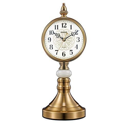 Reloj De Mesa Retro Europeo, Reloj De Recepción, Relojes De Escritorio del Reloj De La Vendimia, con Balanceo para Oficina, Decoración del Hogar, Regalo, Operado por Baterías,4