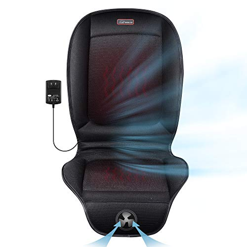 Cooling and Heated Seat Cover, Cooling Seat Cushion and Seat Heater, Adjustable Temperature,12V Heated Seat Cushion, Seat Warmer/Cooler for Home Office Chair
