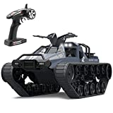 Mostop Remote Control Crawler High Speed Tank Off-Road 4WD RC Car 2.4 Ghz RC Army Truck 1/12 Drift Tank RC Tank for Kids Adults