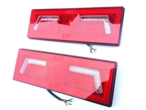 2x LED Rückleuchte 5 Funktionen mit Neon Effekt 12V 24V für Traktor Bagger Kipper LKW