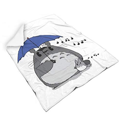 STBlanketshop Weich Shaggy Decke Werfen Anime Ko Chuu Musiknoten Druck Traditionell Picknickdecke Schlafzimmerdekoration Erwachsene&Kleinkind White 150x200cm