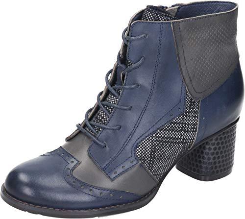 Manitu 962256, Botas Cortas al Tobillo para Mujer, Azul, 35 EU