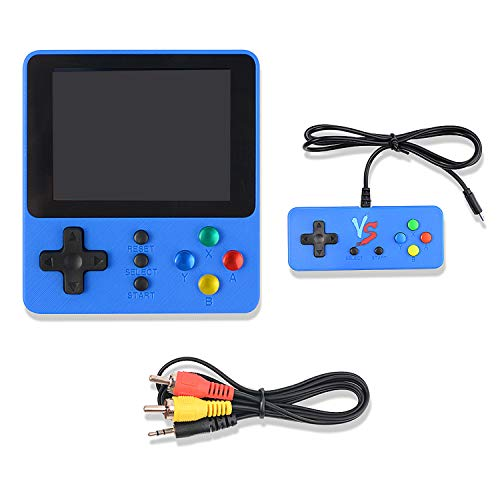 colmanda Handheld Spielkonsole, 500 Klassische Spielen Retro-Spielkonsole, 3.0-Zoll-LCD Bildschirm Handheld Konsole, TV-Ausgang und Unterstützt Zwei Spieler, Schwarz (C)