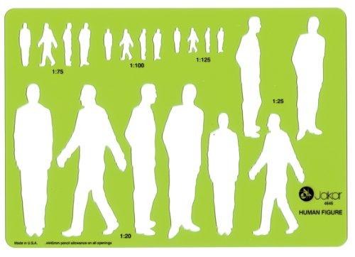 Jakar Schablone Menschliche Figur männlich 212x 148mm