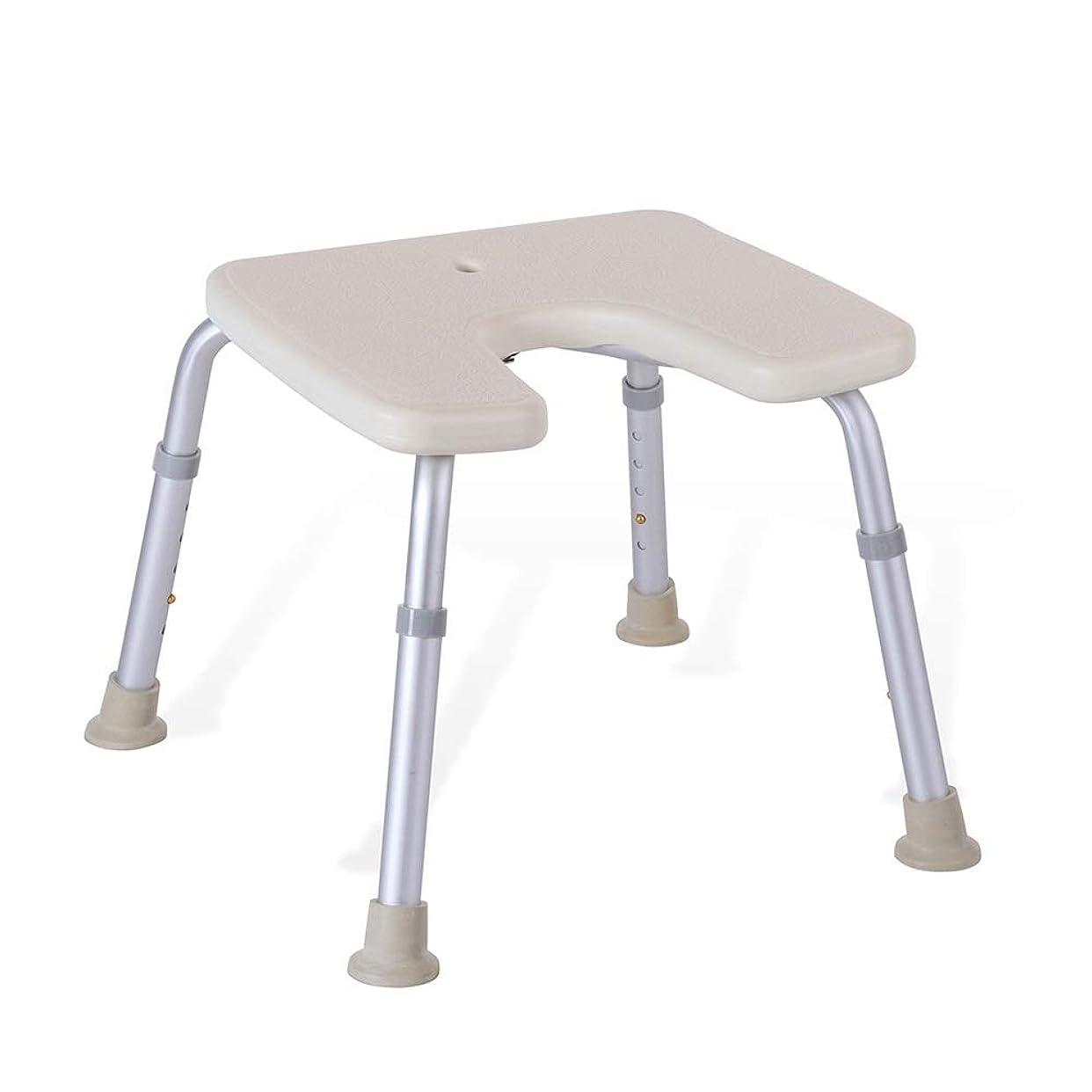 調節可能なU字型の高齢者用浴槽シート、バスチェア、保護パッド付きパッド、シャワースツール