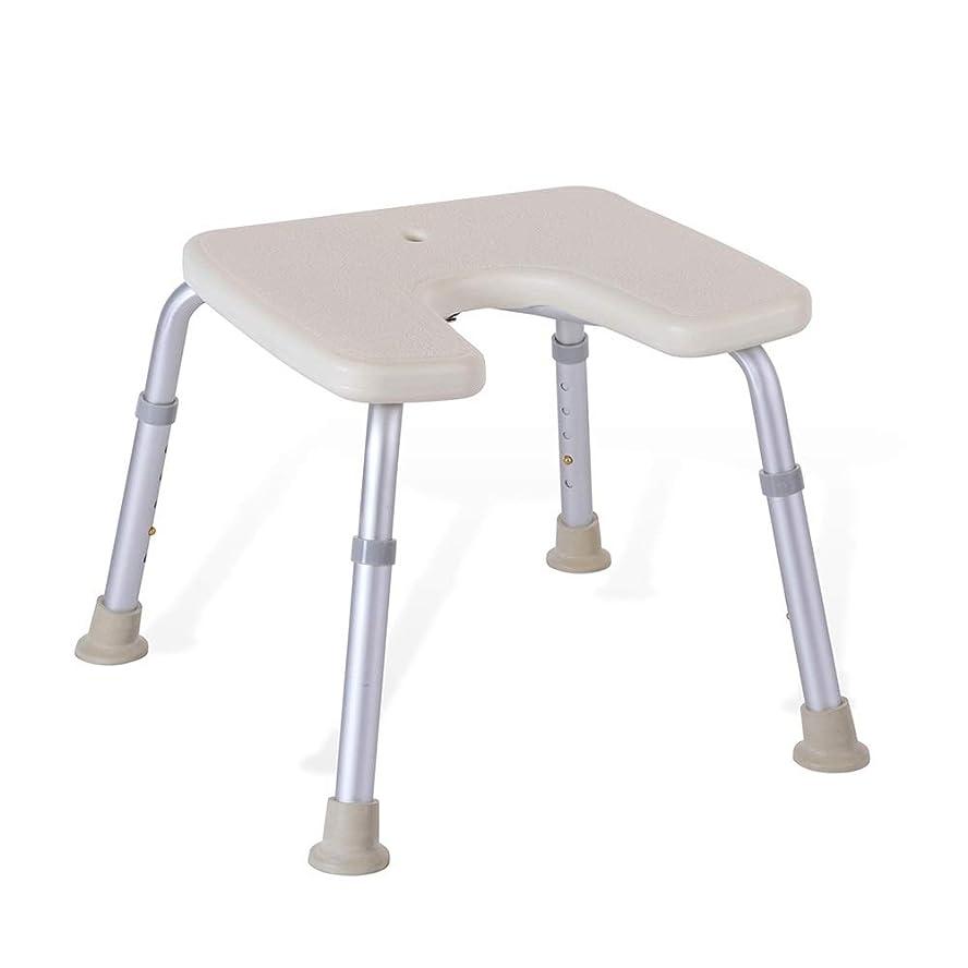 仮定、想定。推測独創的テラス調節可能なU字型の高齢者用浴槽シート、バスチェア、保護パッド付きパッド、シャワースツール