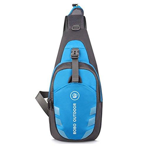 WINOMO Poitrine Sling Sacs à dos à bandoulière imperméable Crossbody Bag Multipurpose Daypacks pour les sports de vélo randonnée Camping Voyage (bleu)