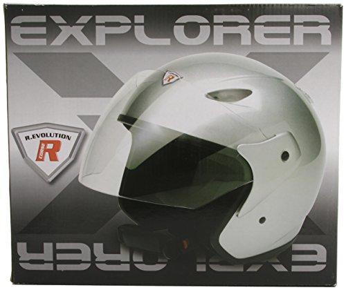 Bottari Motorradhelm Explorer, Rubber Silver, Größe XL