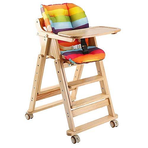 Lebendige Dekoration Babyhochstühle Babyhochstuhl Baby Booster Dinner Chair Mit Tablett Fütterungsplatte Tisch Anti-Rutsch-Sicherer Komfortabler Verstellbarer Sitzhochstuhl (Farbe: Braun)