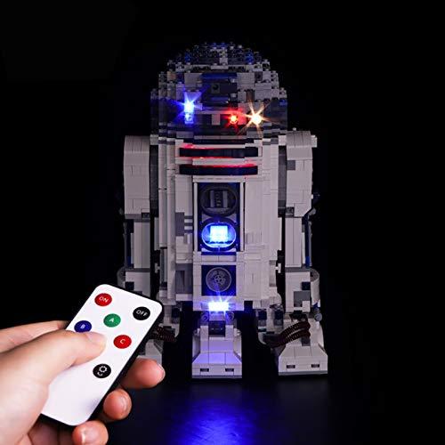 Juego de luces Lightailing para (Star Wars R2-D2) modelo de bloques de construcción, kit de iluminación LED de control remoto compatible con Lego 10225 para regalos de niños (no incluye el juego Lego)